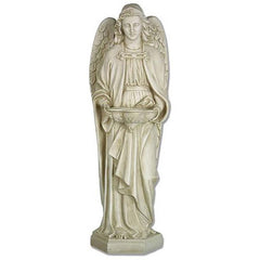 "25"" Siena Angel Religious Statue and Holy Water Font (XoticBrands)"