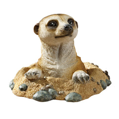 "10"" Meerkat Wildlife Statues Home Garden in Hole"