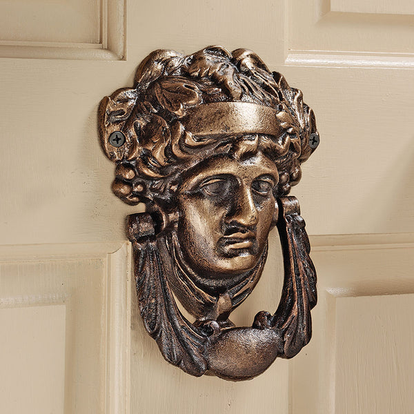 19th Century Replica Athena Authentic Foundry Iron Doorknocker