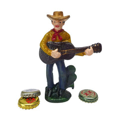 Cactus Pete the Cowboy Cast Iron Bottle Opener: Set of Two
