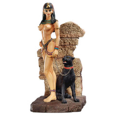 "10"" Egyptian Queen Panther Nude Erotic Sculpture Statue Home Gallery"