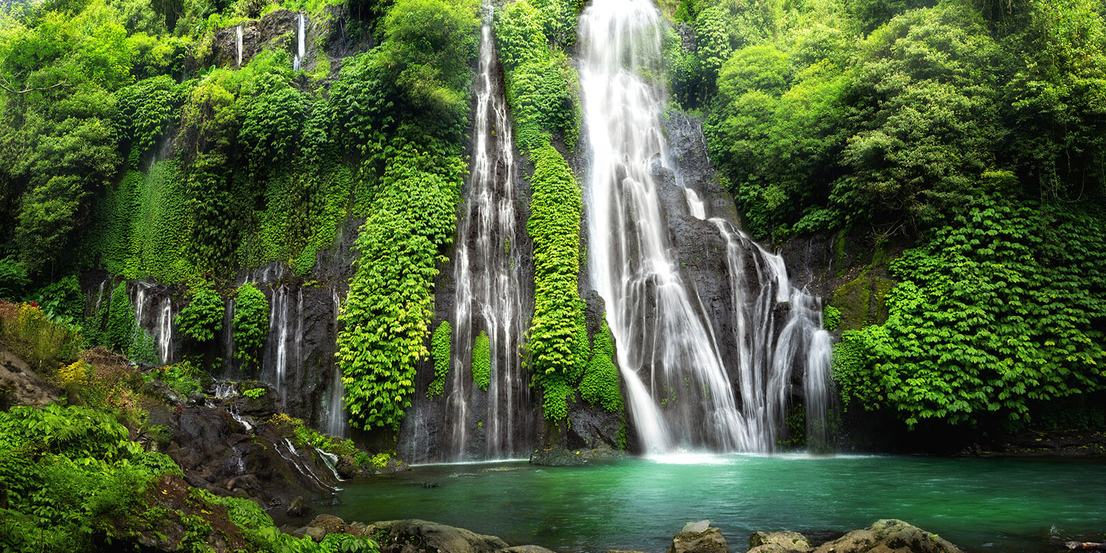 Banyumala Twin Waterfall In Bali