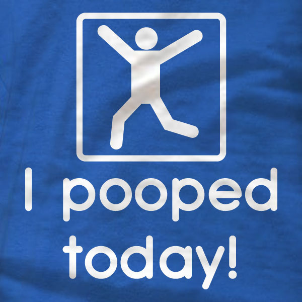 I pooped today! - Gildan Short-Sleeve T-Shirt - Absurd Ink