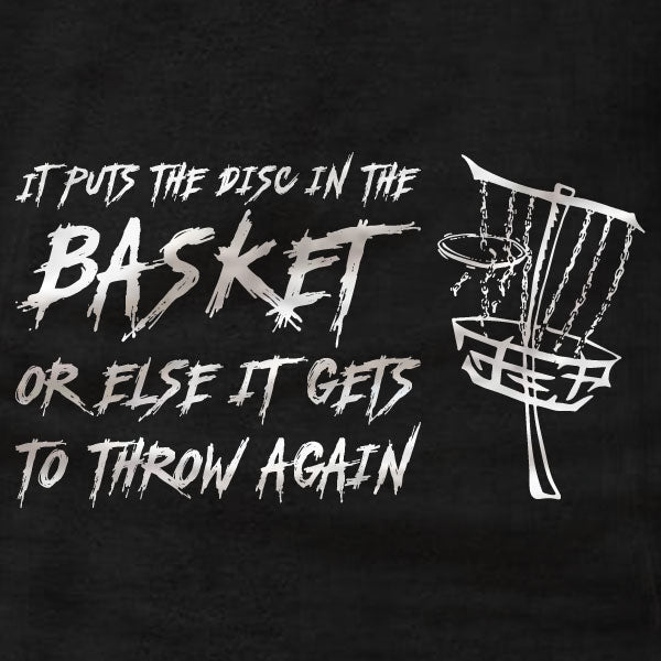 Disc Golf T-Shirt - In The Basket - Absurd Ink