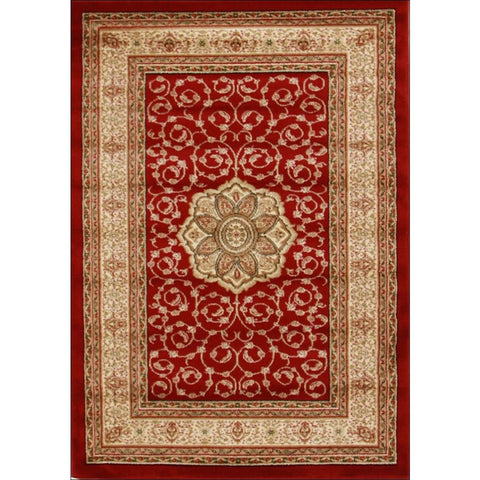 Medallion Classic Pattern Traditional Rug Red - Rugs Of Beauty