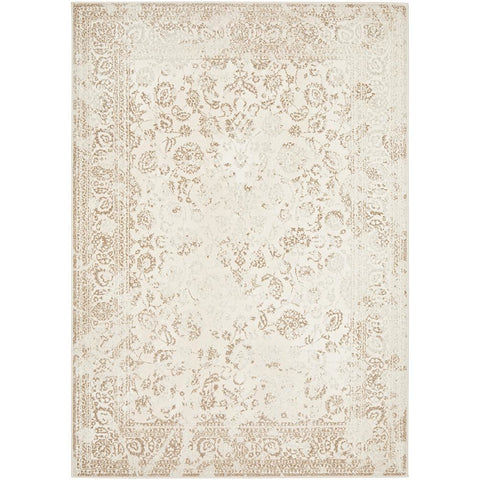 Brittia 330 Cream Taupe Textured Modern Rug - Rugs Of Beauty - 1