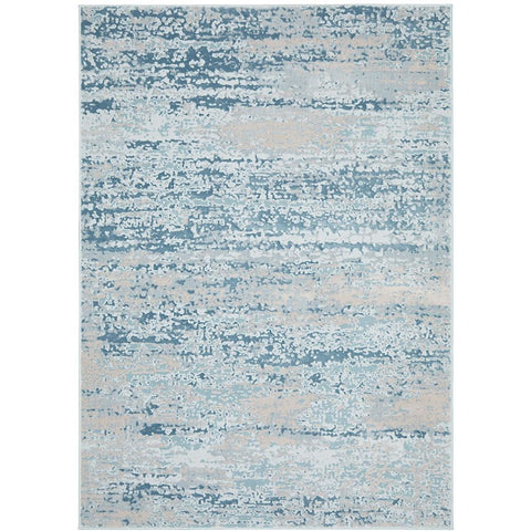 Brittia 331 Blue Textured Modern Rug - Rugs Of Beauty - 1
