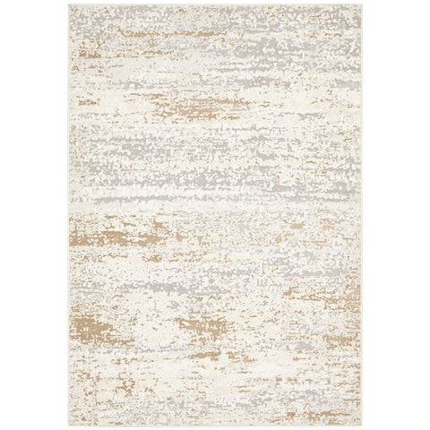Brittia 331 Cream Taupe Textured Modern Rug - Rugs Of Beauty - 1