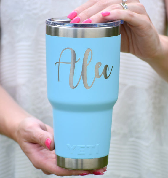 Personalized Authentic Yeti Rambler with Name