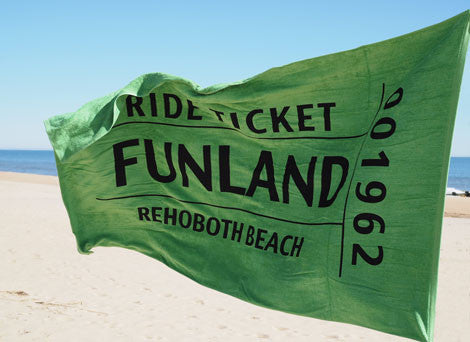 Funland Ticket Beach Towel