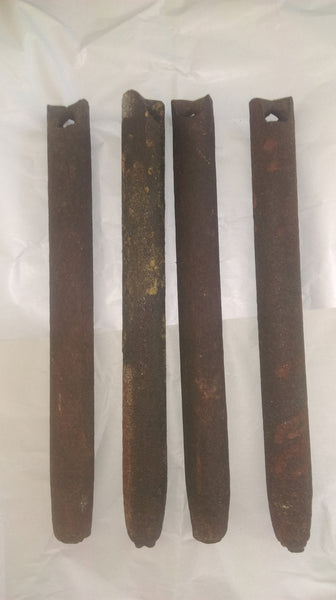 Lot of 4, 4 lbs / pound antique cast iron window / sash weights - Vintporium Architectural Salvage - Window Weight, Cast Iron, Window Pulley, Counter Weight, Window, Sash,