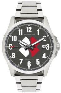 Minuteman  Team Rubicon Brushed Bracelet White/Red Logo USA assembled wristwatch - The CGA Company