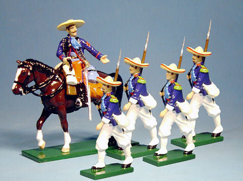 BG167 Beau Geste French Foreign Legion Marching with Sombreros, Mexico 1863 - Piers Christian Toy Soldiers