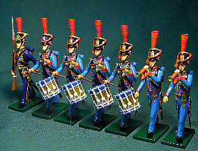 BG199 - Drummers and Trumpeters Line, French Marines de la Garde 1808-1815  by Beau Geste. - Piers Christian Toy Soldiers