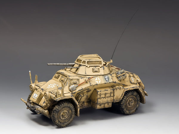 AK092 - Sd. Kfz. 222 Armoured Car (North Africa-Desert), AfriKa Korps - Piers Christian Toy Soldiers