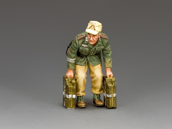 AK111 - Soldier lifting Jerrycans, Afrika Korps from King & Country - Piers Christian Toy Soldiers