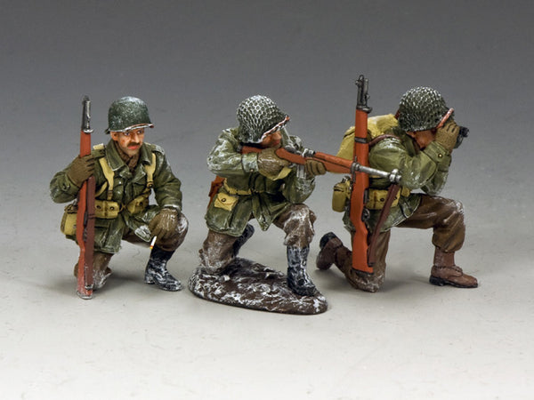 BBA081 - Winter Action, Battle of the Bulge American from King & Country - Piers Christian Toy Soldiers