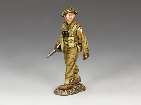 BBB003 - British Infantry Officer, Battle of the Bulge British from King & Country - Piers Christian Toy Soldiers