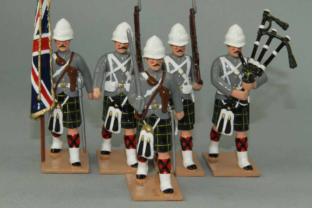 HR11G - Gordon Highlanders Marching, Grey Tunic version. Made by Regal Toy Soldiers - Piers Christian Toy Soldiers - 1