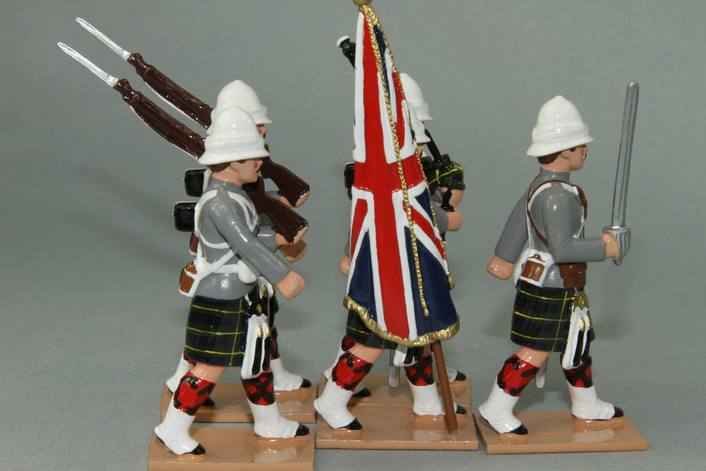 HR11G - Gordon Highlanders Marching, Grey Tunic version. Made by Regal Toy Soldiers - Piers Christian Toy Soldiers - 2