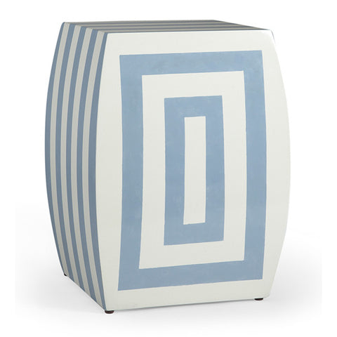 Alice Stool, Blue & Cream