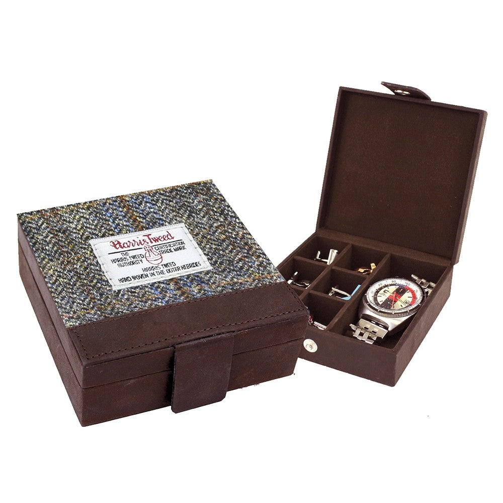 British Bag Company Carloway Harris Tweed Cufflink/Watch Box