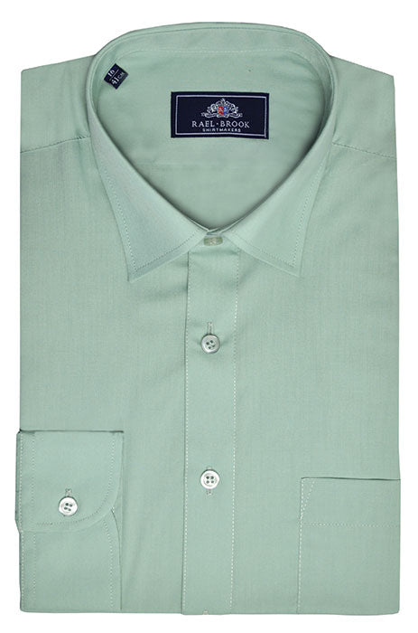 Rael Brook Long Sleeve Plain Shirt - Green