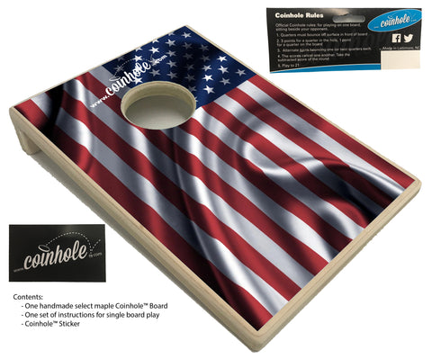 american flag coinhole board
