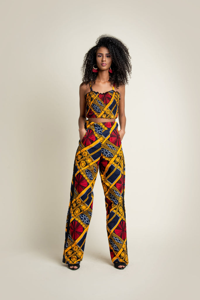 'Uzoma' Pants/Trouser & Top set