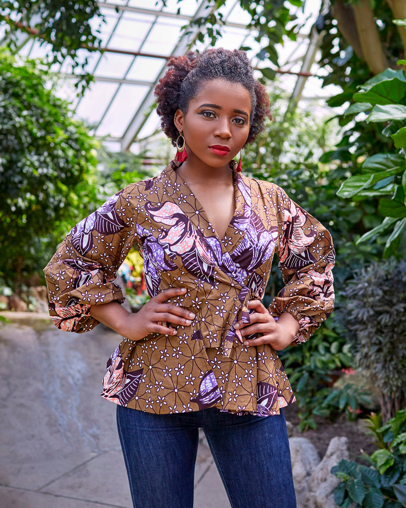 Buchi wrap jacket top