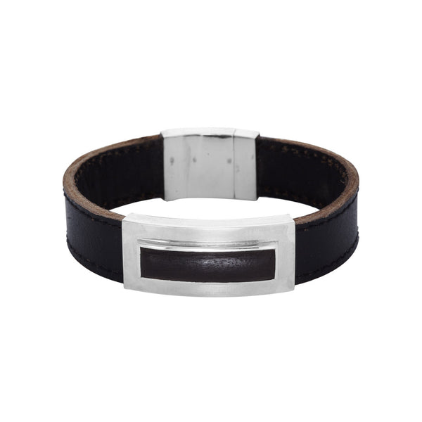 Leather and Ebony Bracelet