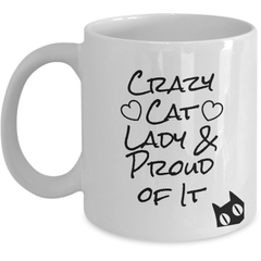 crazy cat lady - white coffee mug
