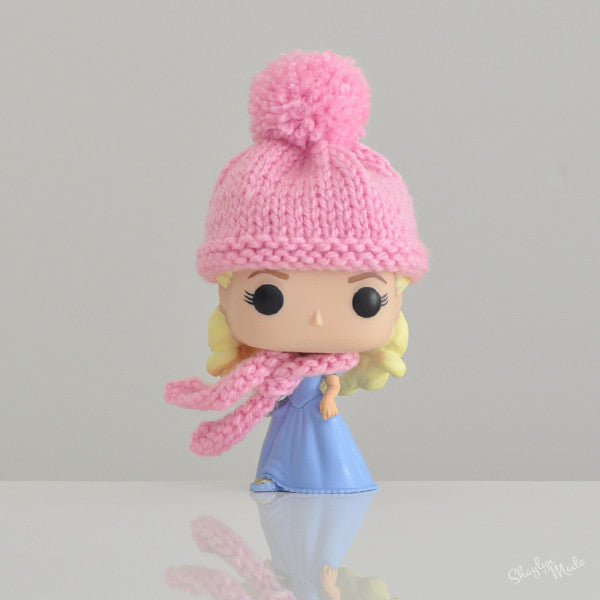 Pop! Apparel Knitted Beanie & Scarf Set [Pink]