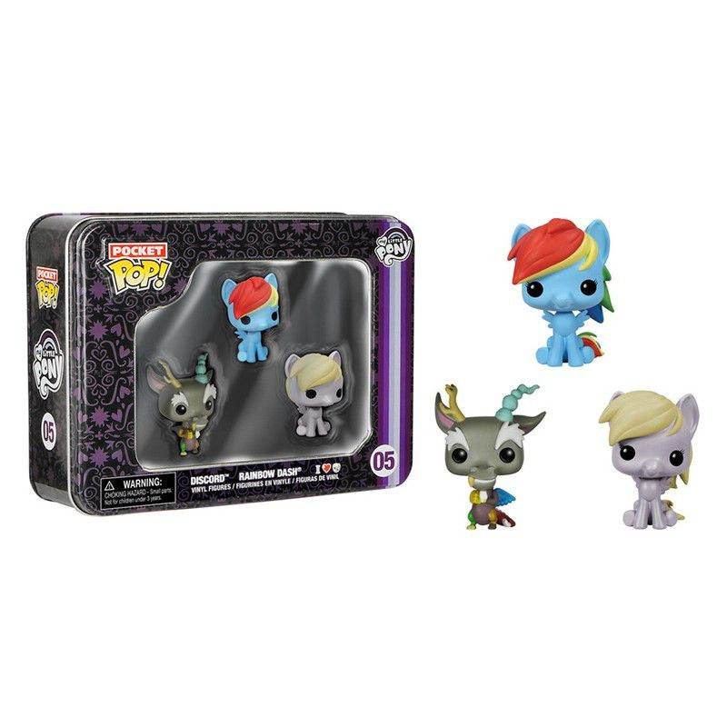 My Little Pony Pocket Pop! 3-Pack Tin [Rainbow Dash, Discord and Derpy]