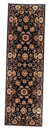 "Brillante Machine Made Ebony Runner Rug (2'3"" x 7'6"") - Sky Home Decor"