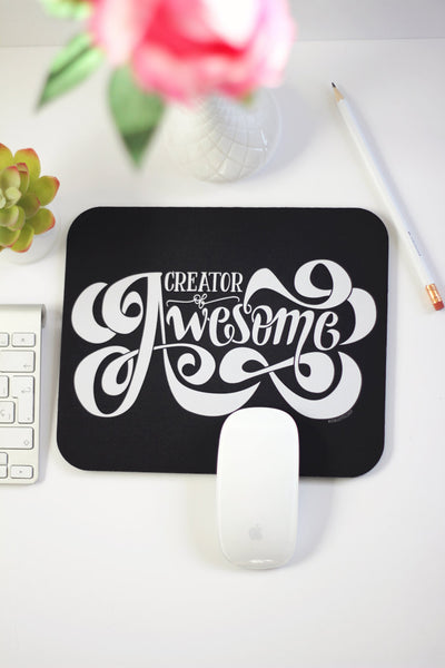 Mousepad - Creator of Awesome - howjoyfulshop