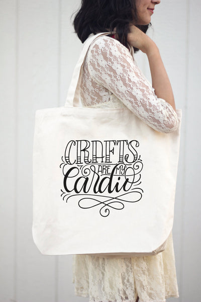 Big Tote bag - Crafts are my cardio - howjoyfulshop