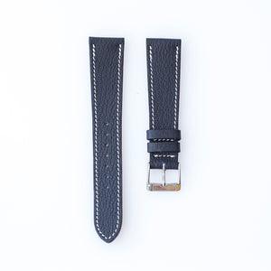 Textured Oxford Blue Calfskin Watch Strap