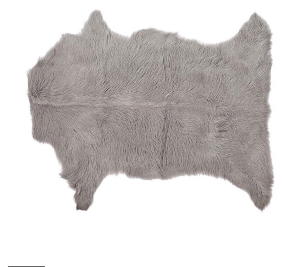 Mongolian Goat Fur- Light Grey
