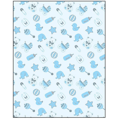 Baby Boy Icons Gift Wrapping Paper