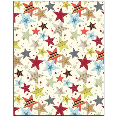 Coloured Stars Gift Wrapping Paper