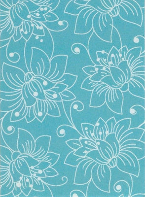 Pattern on Aqua  Gift Tag