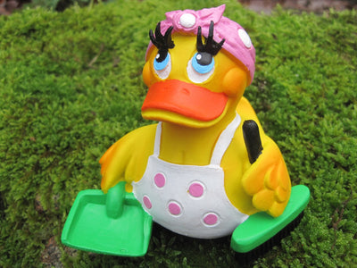 Mrs Mop Cleaning Latex Rubber Duck From Lanco Ducks