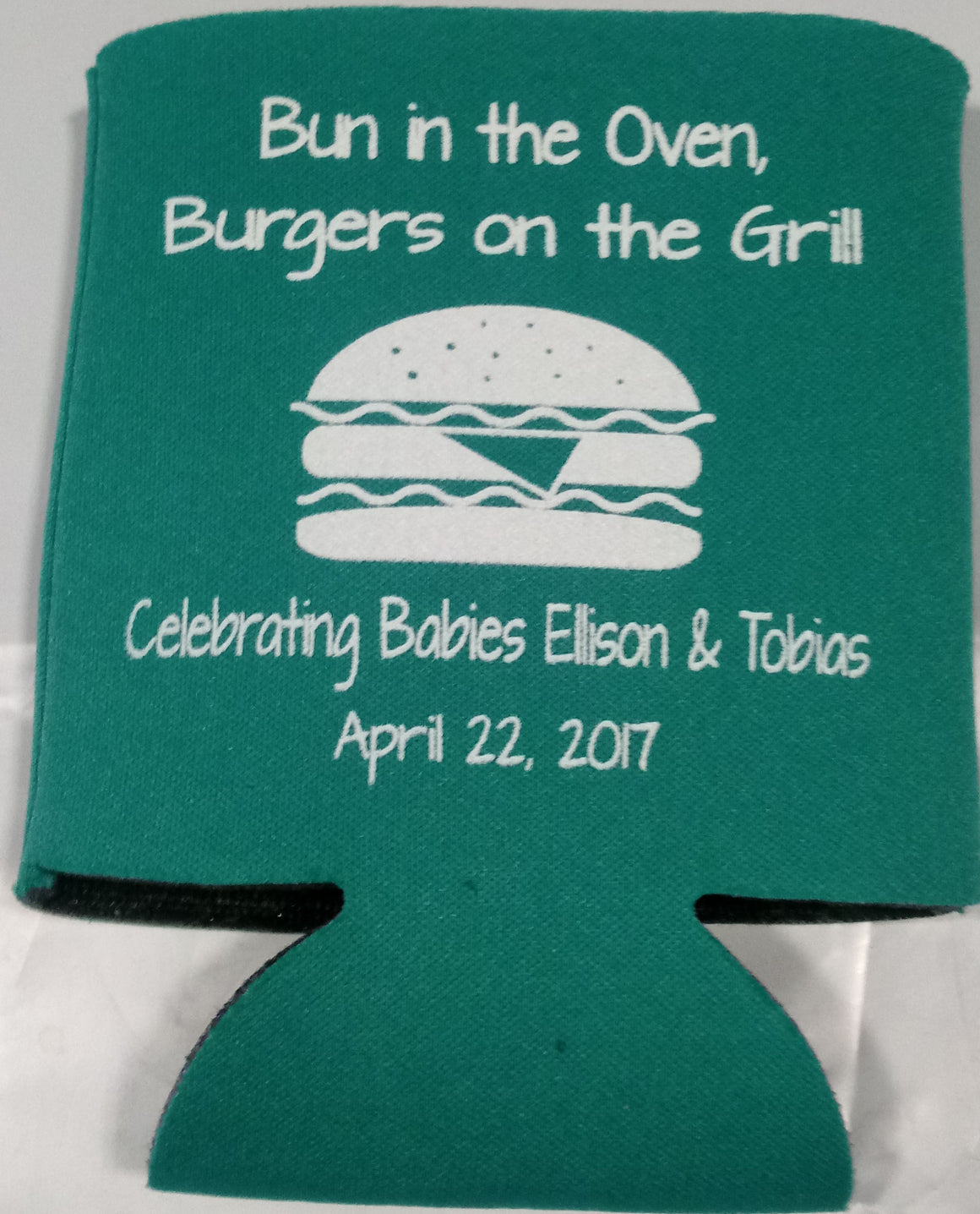 bun in the oven baby shower party favors Can Coolers