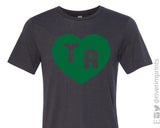 TA HEART DISTRESSED Triblend Tee by River Imprints