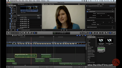 Copy individual effects / filters from one clip to another in Final Cut Pro X