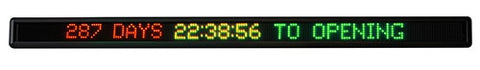 Internal COUNTDOWN CLOCK - 1585mm x 110mm - 7 x 200 pixels