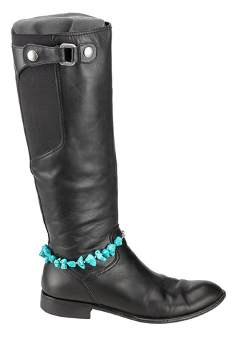 boot bracelet - tassels and beads