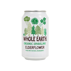 Whole Earth Sparkling Organic Elderflower Drink (Can) 330ml