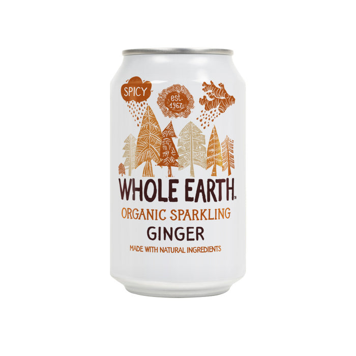 Whole Earth Sparkling Organic Ginger (Can) 330ml